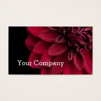 Fleuristes floraux modernes de fleur de dahlia de cartes de visite