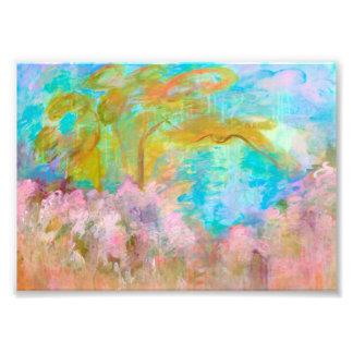 Fleurs abstraites d'Aqua de rose d'arbre d'art de Photographies D'art