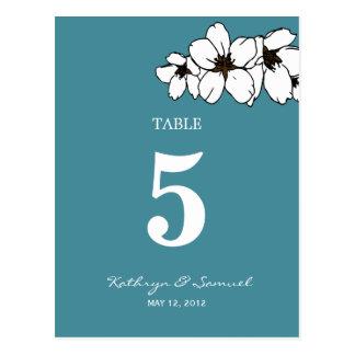 Fleurs Artsy épousant la carte de nombre de