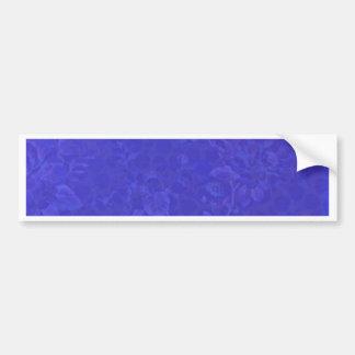 Fleurs bleues pourpres autocollant de voiture