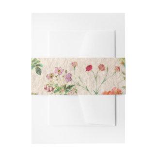 Fleurs botaniques vintages roses élégantes bandeau de faire-part