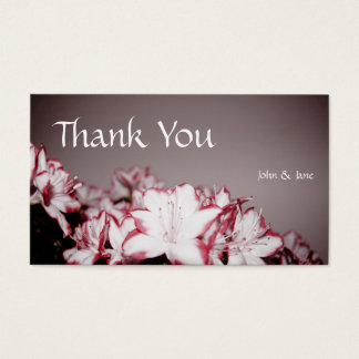 Fleurs - carte de remerciements de mariage