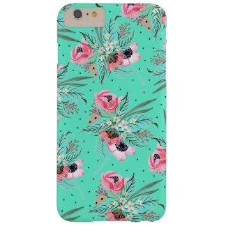 Fleurs colorées d'été - coque iphone turquoise
