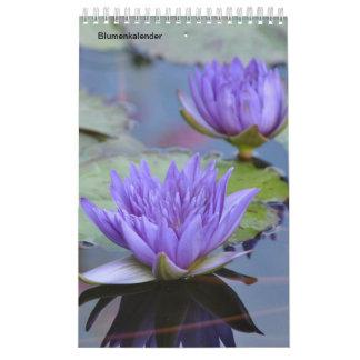 Fleurs comme calendriers