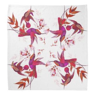 Fleurs d'animaux de faune d'oiseaux de colibri bandana