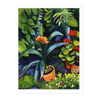 Fleurs dans le jardin avant août Macke Carte Postale