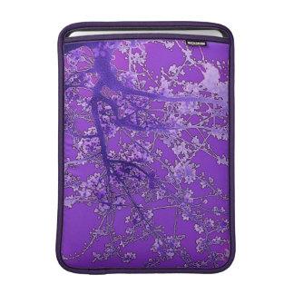 Fleurs de cerisier asiatiques de lavande de style poches macbook air