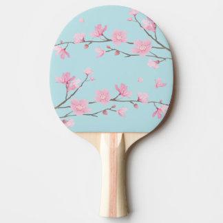 Fleurs de cerisier - bleu de ciel raquette tennis de table
