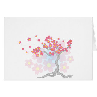 Fleurs de cerisier carte de vœux