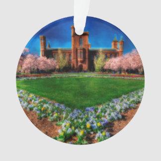 Fleurs de cerisier de jardin de château de