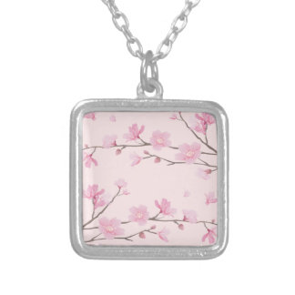 Fleurs de cerisier - rose collier