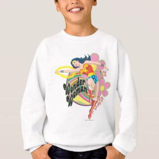 Fleurs de femme de merveille rétros sweatshirt