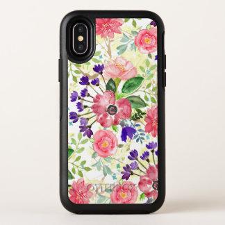 Fleurs de jardin d'aquarelle