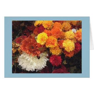 Fleurs de jaune de carte de voeux