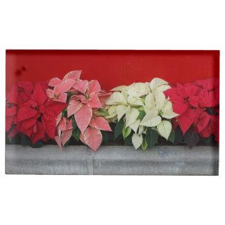 Fleurs de Pointsettia de Noël Porte-carte De Table