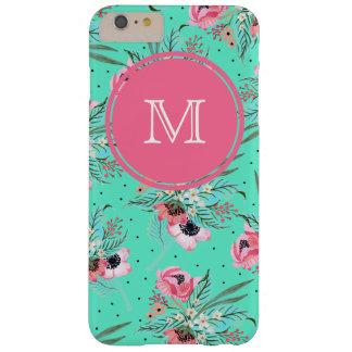 Fleurs d'été - coque iphone turquoise personnalisé