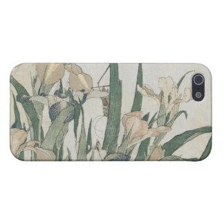 Fleurs d'iris et sauterelle, c.1830-31 étui iPhone 5