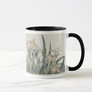 Fleurs d'iris et sauterelle, c.1830-31 mug