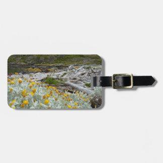 Fleurs d'or du froid étiquette à bagage