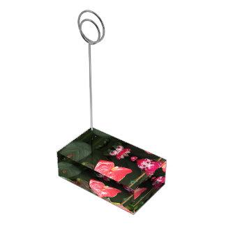 Fleurs d'orchidées porte-carte de table