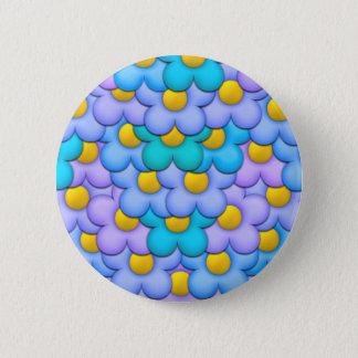 Fleurs en pastel badge rond 5 cm