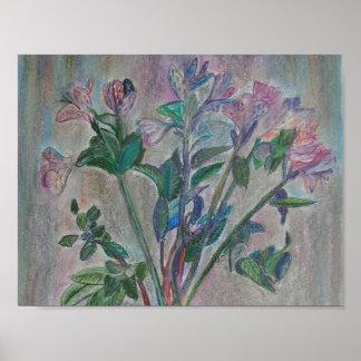 fleurs en pastel par l'artiste Elizaveta Limanova