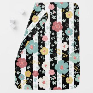 Fleurs et rayures mignonnes couvertures pour bébé
