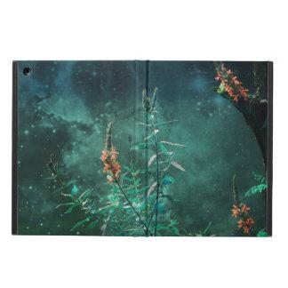 Fleurs féeriques dans le clair de lune de jade étui iPad air