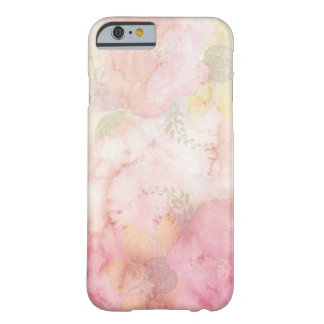 Fleurs girly romantiques d'aquarelle coque barely there iPhone 6