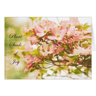 Fleurs inspirées de cornouiller carte