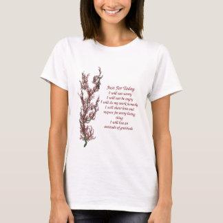 Fleurs inspirées juste pour la citation t-shirt