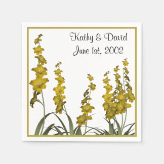 Fleurs jaunes (mariage) serviettes jetables