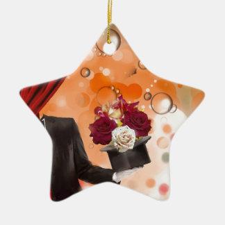 Fleurs magiques pour une personne très spéciale ornement étoile en céramique