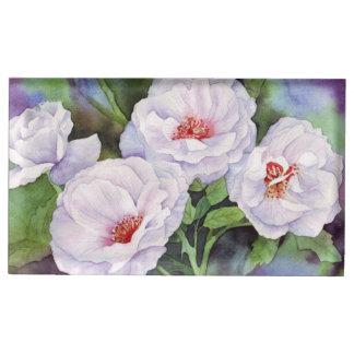 Fleurs mauve-clair porte-cartes de  table