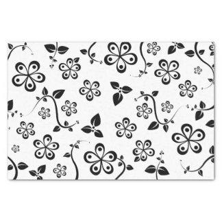 Fleurs monochromatiques papier mousseline