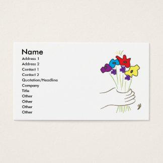 Fleurs, nom, adresse 1, adresse 2, contact 1,… cartes de visite