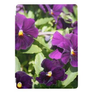 Fleurs pourpres de pensée protection iPad pro