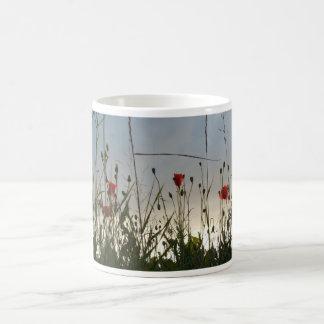 Fleurs - quatre pavots rouges mug
