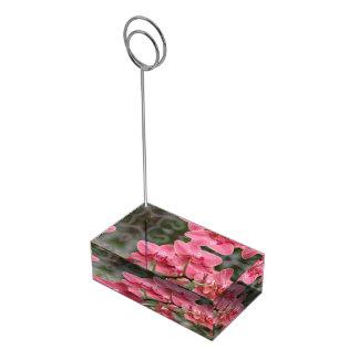 Fleurs roses d'orchidée porte-carte de table