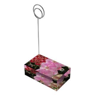 Fleurs roses d'orchidée porte-photo