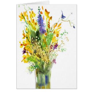 Fleurs sauvages. Carte d'art