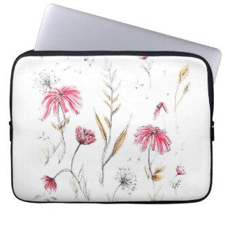 Fleurs sauvages trousse pour ordinateur portable