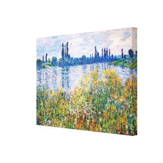 Fleurs sur les banques des beaux-arts de la Seine Toile
