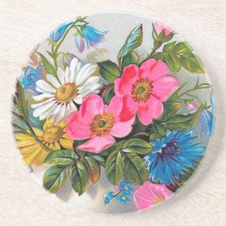 """Fleurs vintages """"de bouquet de Pâques"""" Dessous De Verres"""