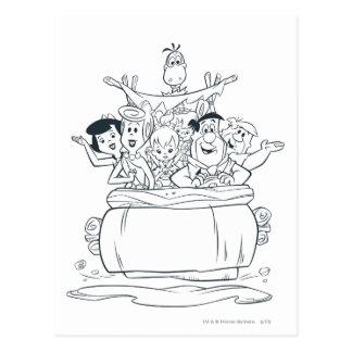 Flintstones Families1 Briefkaart