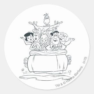 Flintstones Families1 Ronde Sticker