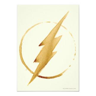 Flits | het Gele Embleem van de Borst 12,7x17,8 Uitnodiging Kaart