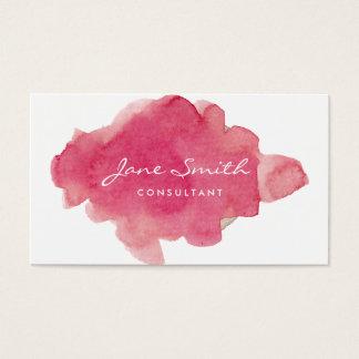 Floc rose de couleur d'eau cartes de visite