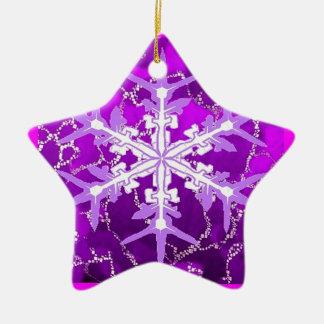 Flocon de neige d'améthyste pour des bébés de ornement étoile en céramique