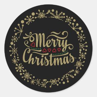 Flocon de neige de Joyeux Noël et autocollants de